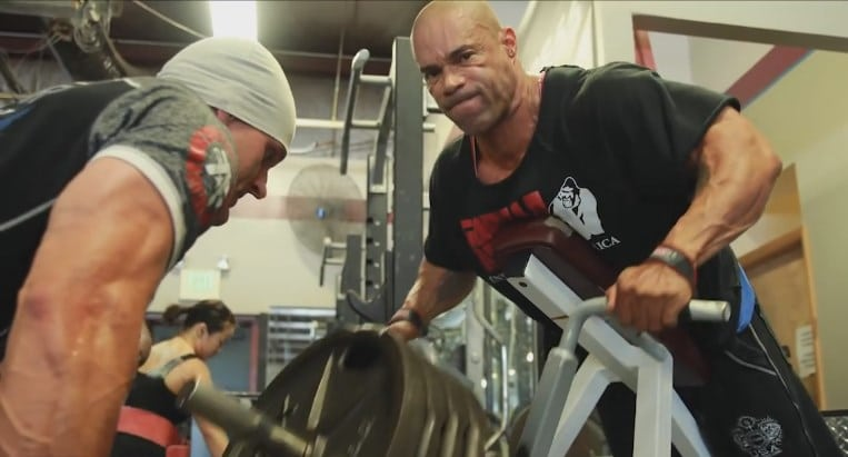 Kevin Levrone Trains Back 8 Weeks Out